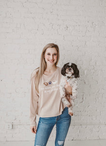 Dog, Coffee & Football Pullover Top