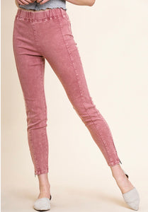 Rose' Blush Mineral Wash Jeggings