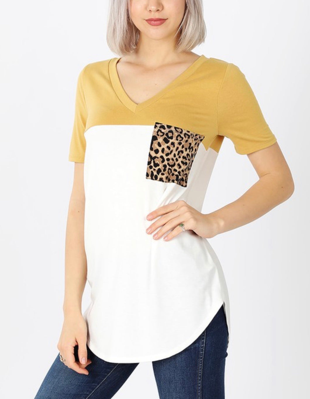 Cheetah Girl Tee - Mustard
