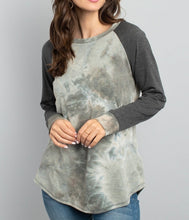 Load image into Gallery viewer, Tie Dye Long Sleeve - Olive/Ivory