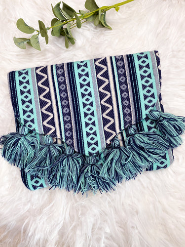Mud Pie Tassel Clutch