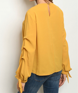 Make Me Happy Mustard Blouse