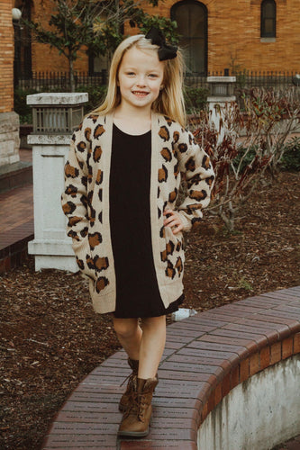 Girls Candice Leopard Cardigan