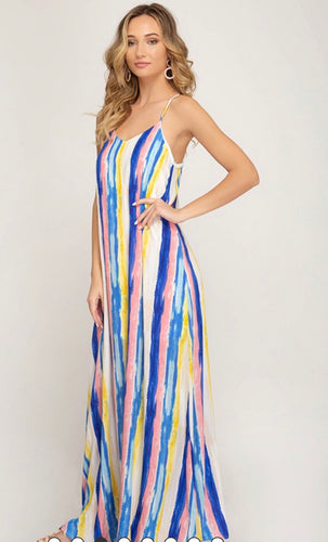 Rainy Watercolor Maxi Dress 20%