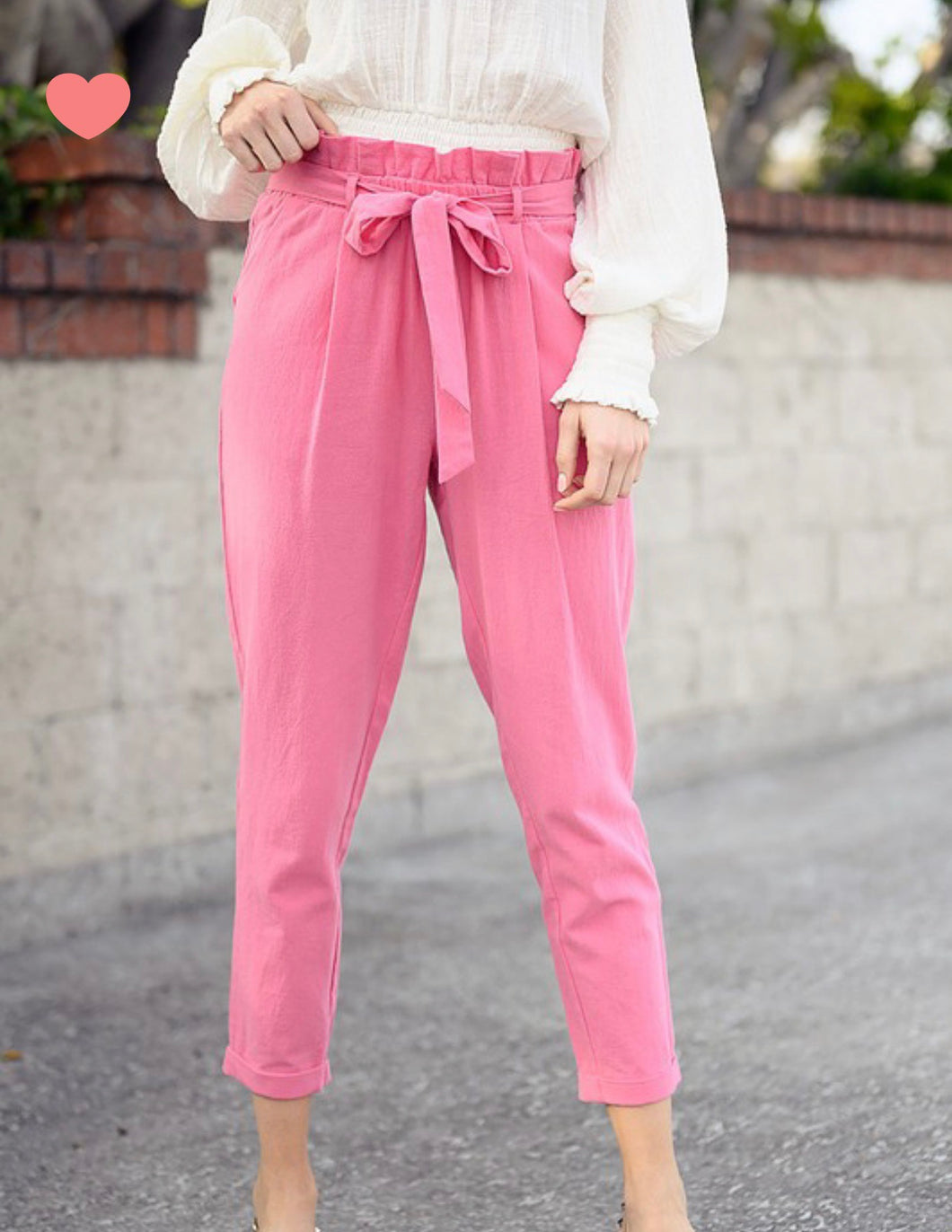 Emmalee Linen Pants - Blush