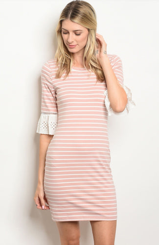Trista Mauve Bell Sleeve Dress 20%
