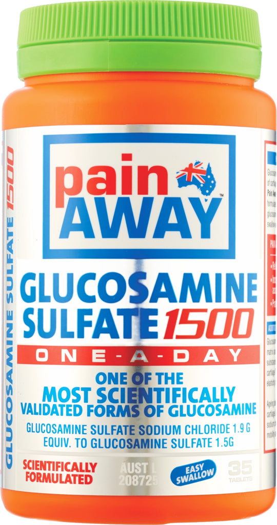PAIN AWAY GLUCOSAMINE SULFATE 1500 - 35 TABLETS