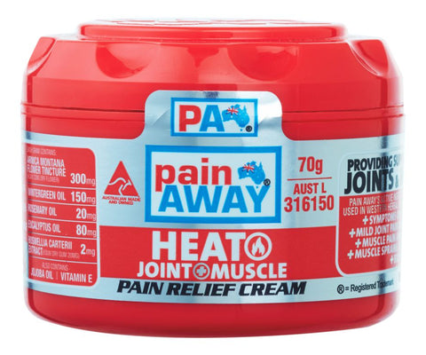 PAIN AWAY HEAT JOINT & MUSCLE <br>PAIN RELIEF CREAM 70G