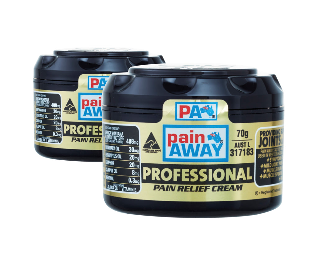 2 x PAIN AWAY PROFESSIONAL <br> PAIN RELIEF CREAM 70G
