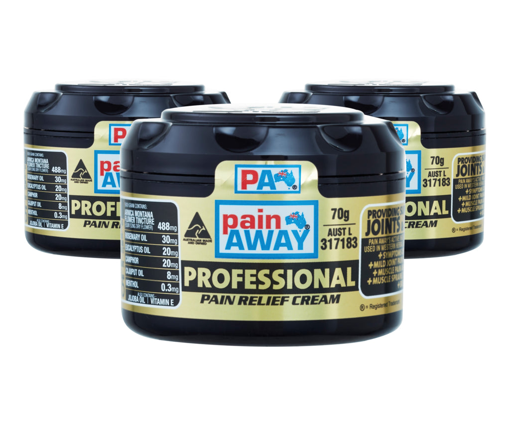 3 x PAIN AWAY PROFESSIONAL <br> PAIN RELIEF CREAM 70G
