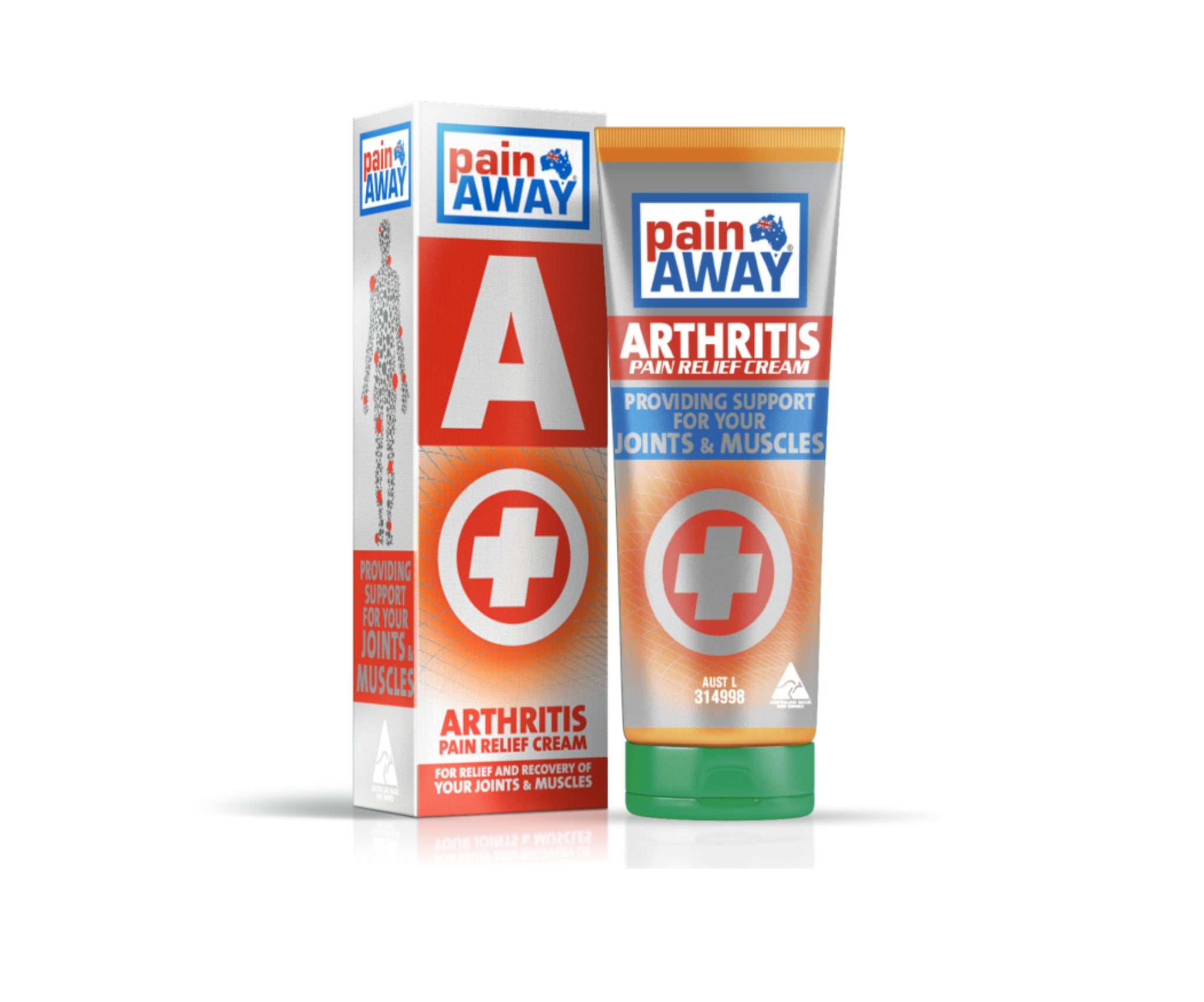1 x PAIN AWAY ARTHRITIS <BR> PAIN RELIEF CREAM 125G TUBE