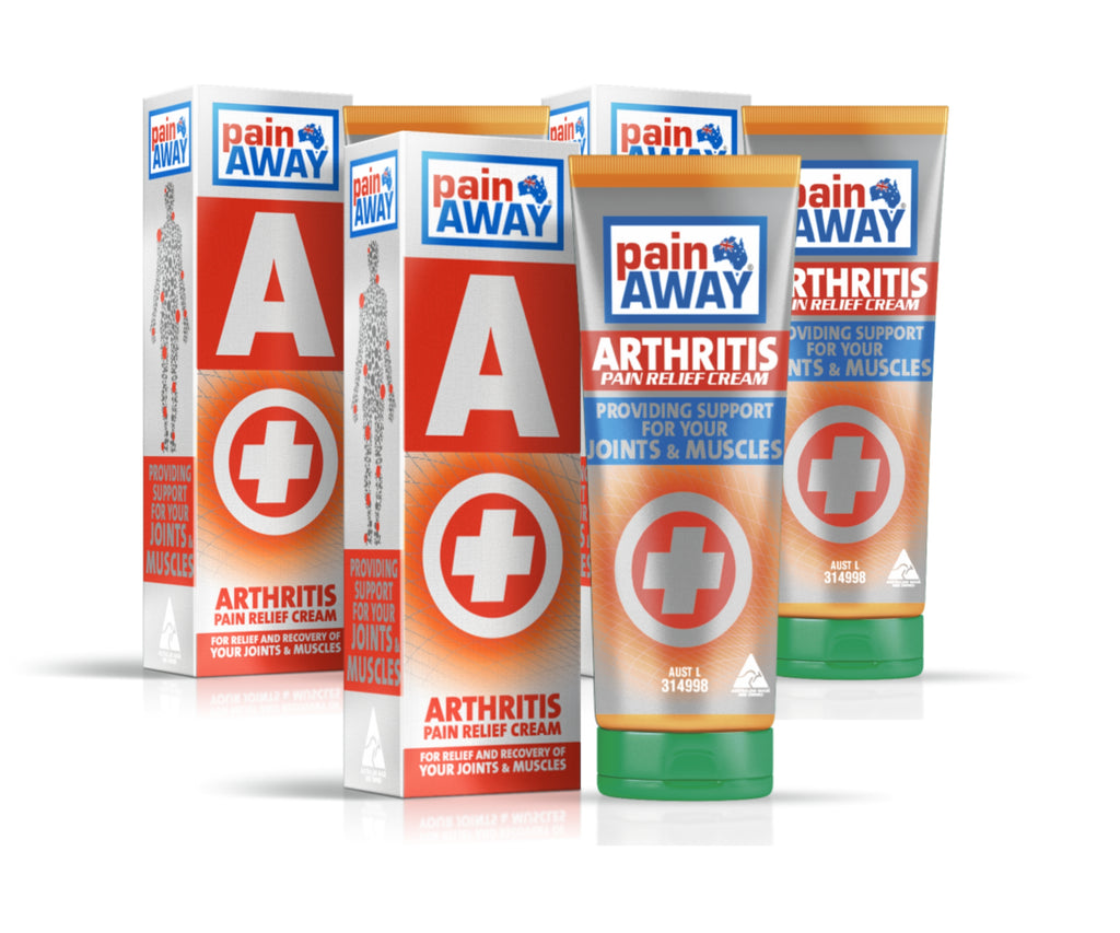 3 x PAIN AWAY ARTHRITIS<BR> PAIN RELIEF CREAM 125G TUBE