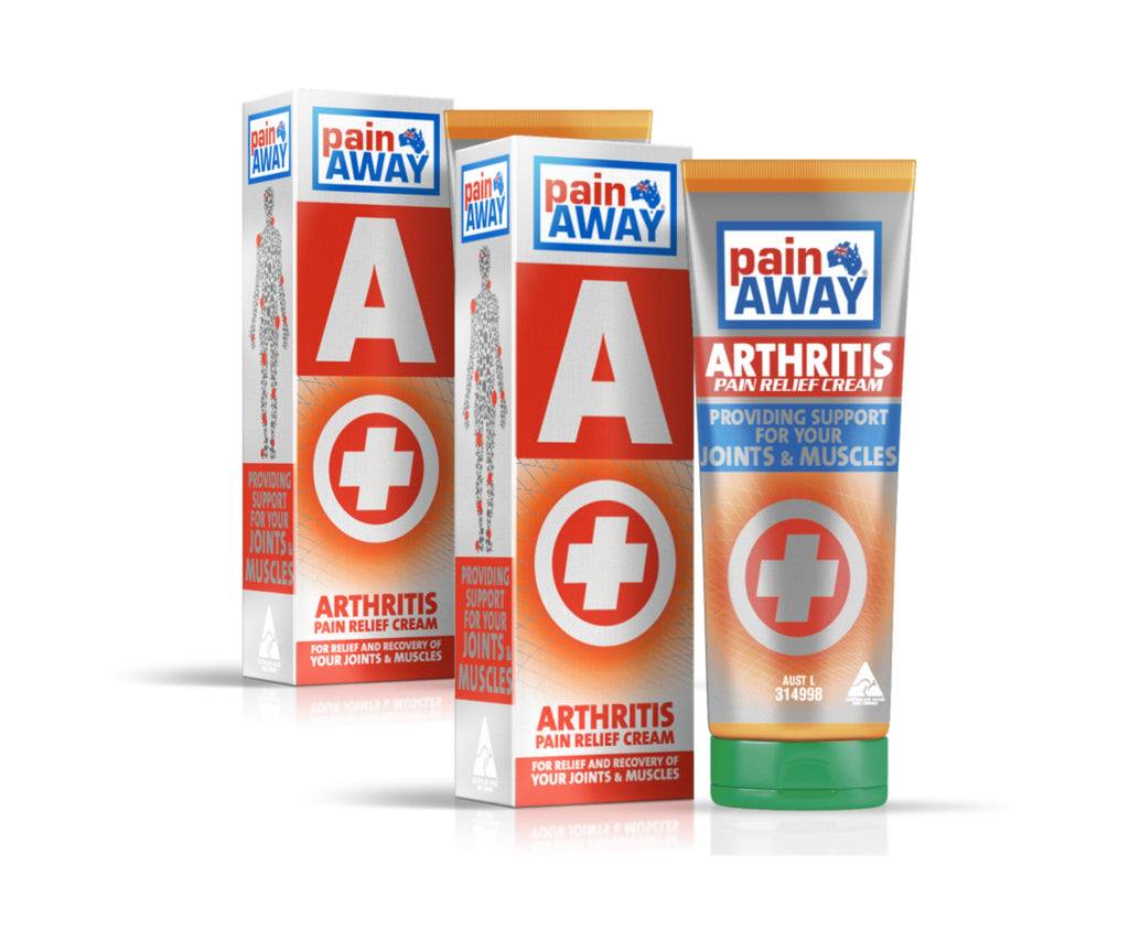 2 x PAIN AWAY ARTHRITIS<BR> PAIN RELIEF CREAM 125G TUBE
