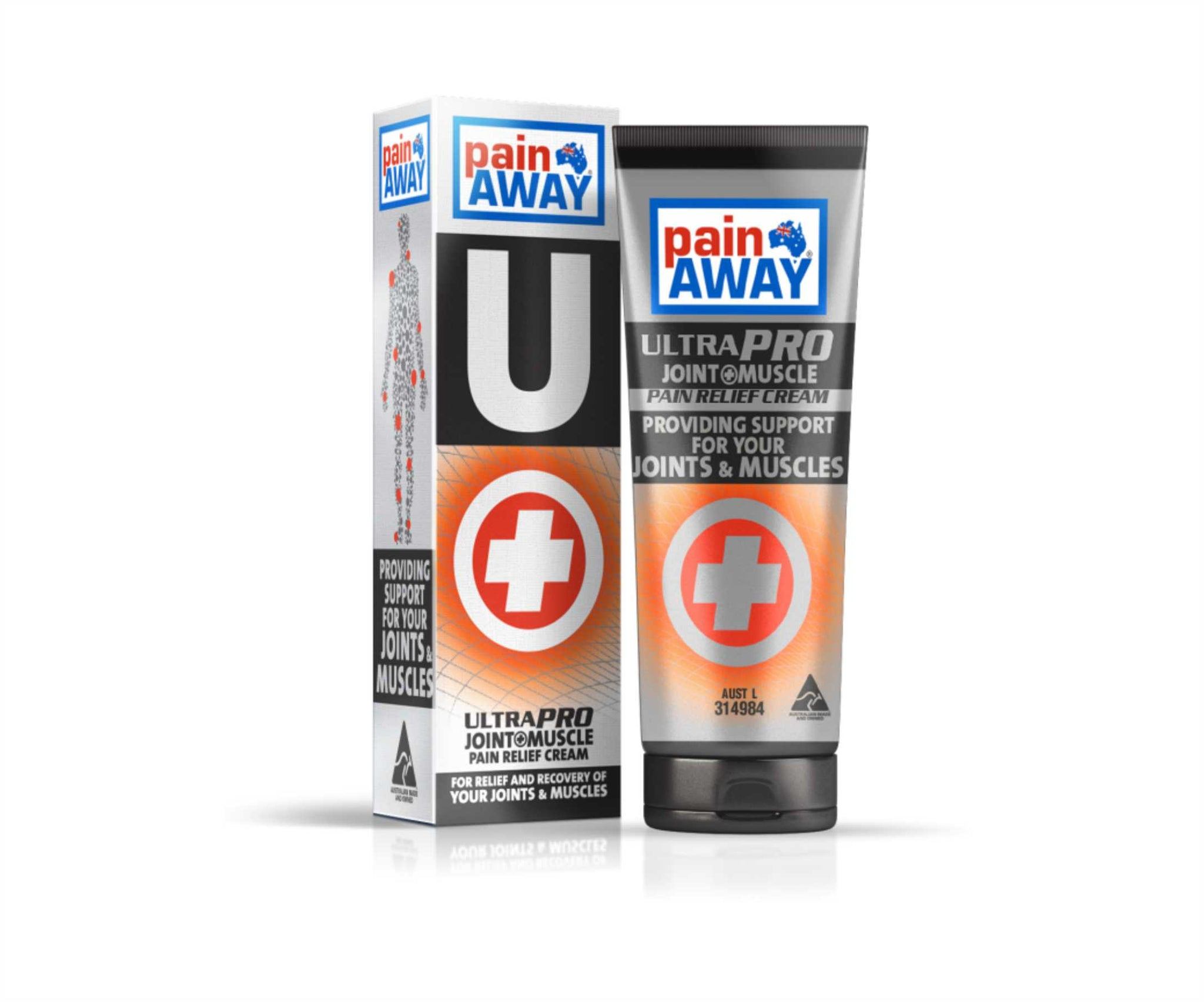 1 x PAIN AWAY ULTRA PRO - JOINT & MUSCLE <BR> PAIN RELIEF CREAM 125G TUBE