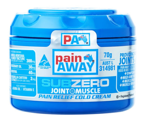 PAIN AWAY SUB ZERO - JOINT & MUSCLE PAIN RELIEF COLD <br> CREAM 70G