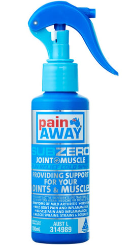 PAIN AWAY SUB ZERO – JOINT & MUSCLE PAIN RELIEF COLD SPRAY 100ML
