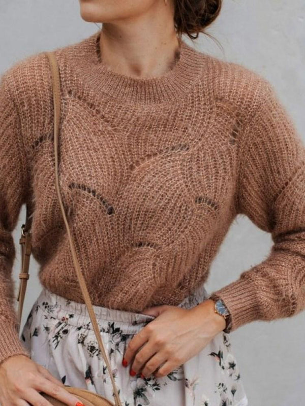 Pull Femme Manches Longues Slim