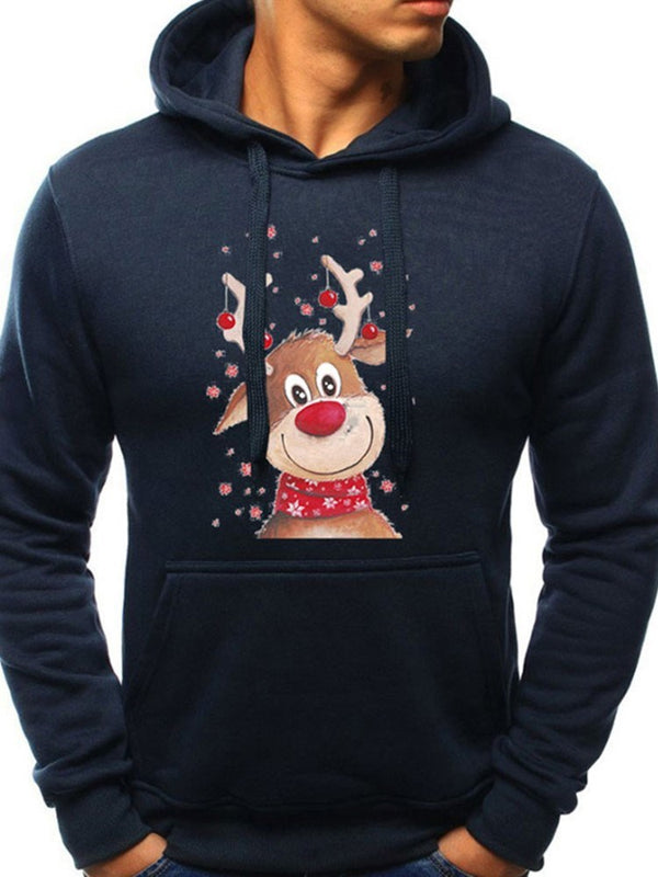 Hoodie Cartoon Noël Animation Pull-Over Imprimé Automne Capuchon