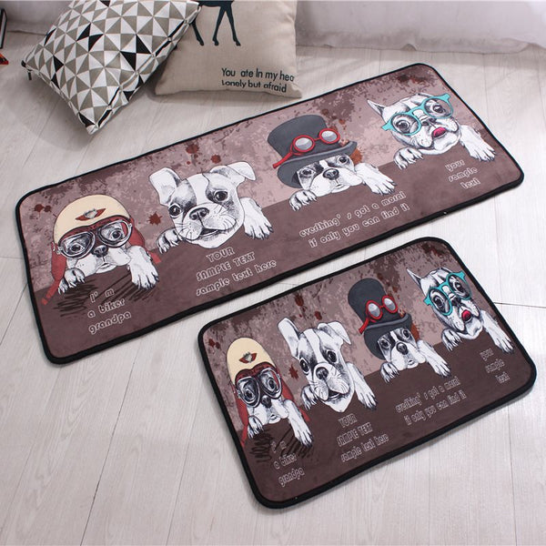 Tapis Rectangle d'enfant en Polyester Imprimé d'animation