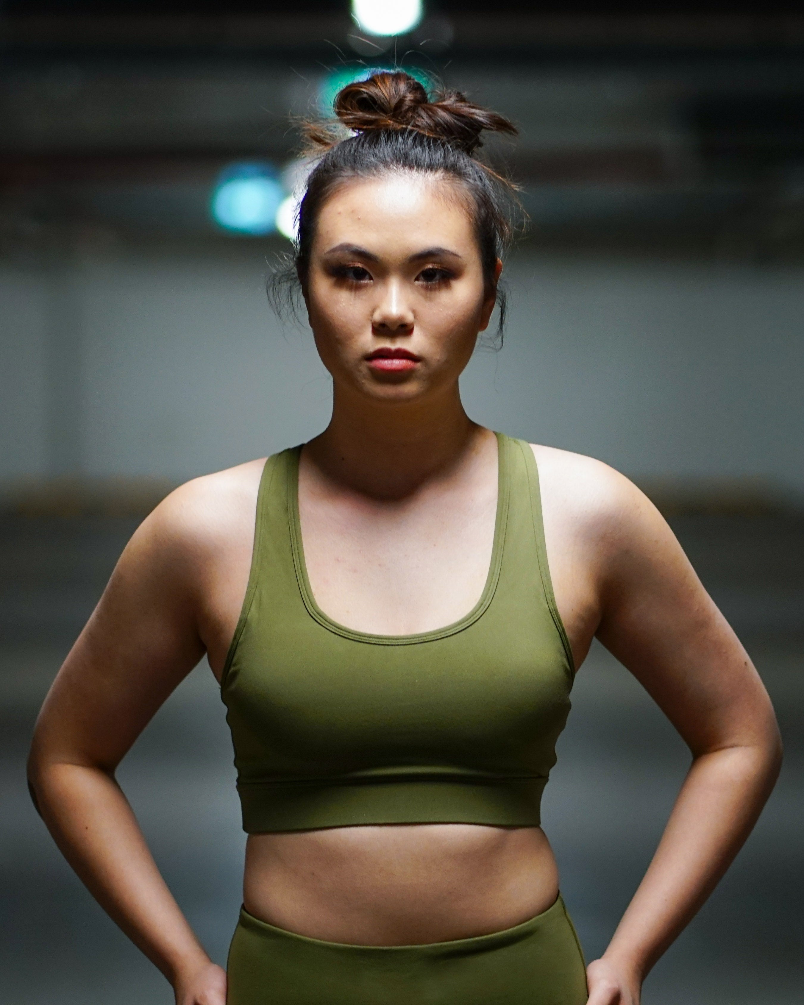 ELITE X Sports Crop- Commando Green