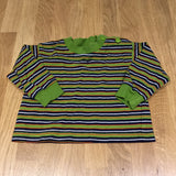Green, Navy, Orange & White Striped Long Sleeve Top - Boys 0-3m
