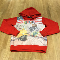 'Journey' Moped & Street Red Hoodie Sweatshirt - Boys 8-9 Years