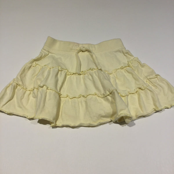 Pale Yellow Jersey Skirt - Girls 12-18m