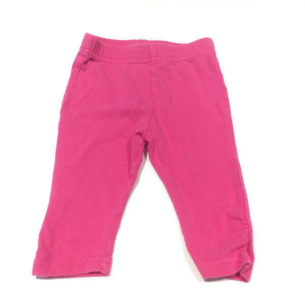 Dark Pink Leggings - Girls 3-6m