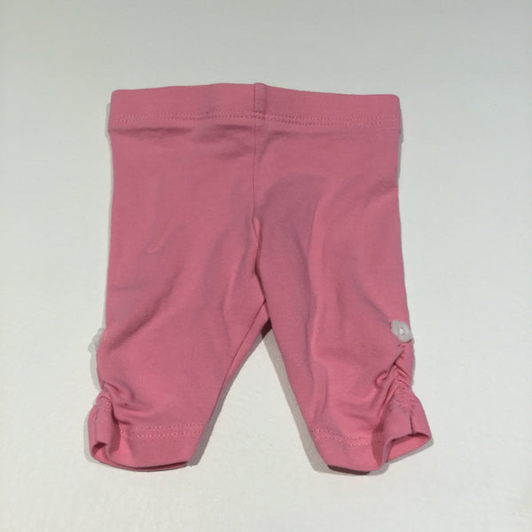 Pink Leggings with Rouched Sides - Girls Newborn
