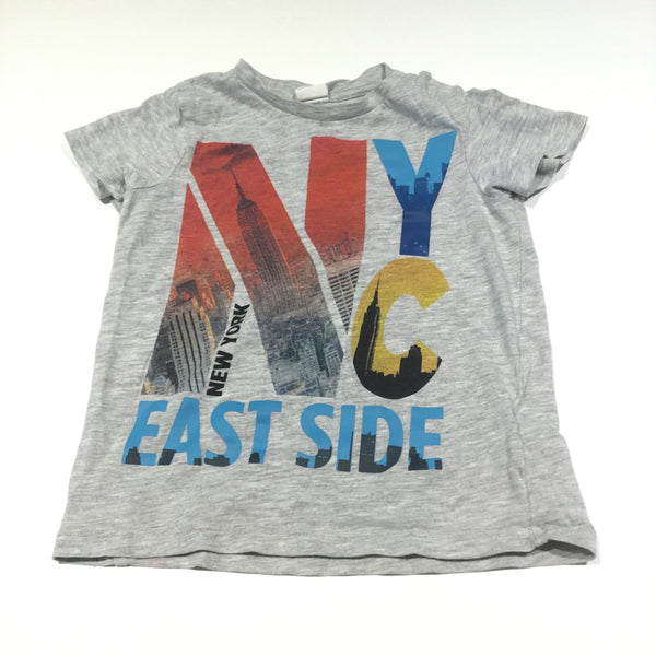 'NYC East Side' Grey T-Shirt - Boys 12-18m