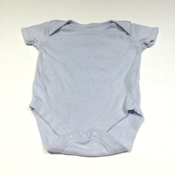 Pale Blue Short Sleeve Bodysuit - Boys Newborn