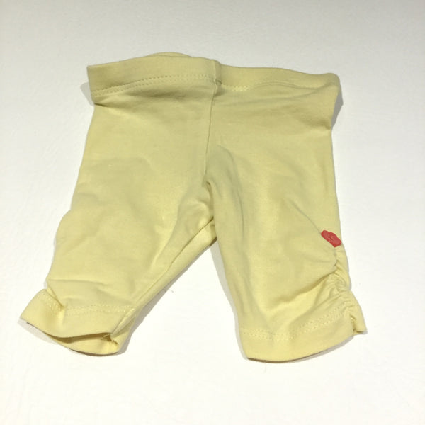 Yellow Leggings with Rouched Sides & Button Detail - Girls Newborn