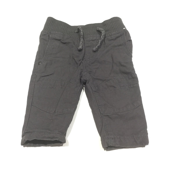 Charcoal Grey Cotton Twill Trousers - Boys 0-3m