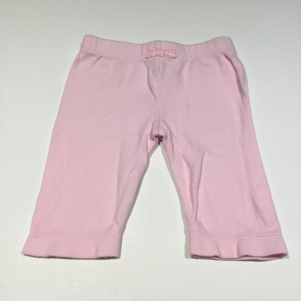 Pink Jersey Trousers - Girls 0-3m