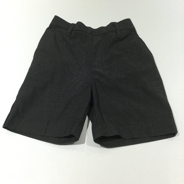 Boys Grey School Shorts with Adjustable Waistband - Boys 3 Years