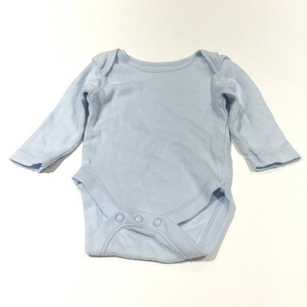 Light Blue Long Sleeve Bodysuit - Boys Newborn