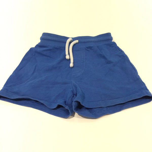 Blue Thick Jersey Shorts - Boys 12-18m