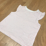 White & Red Dots T-Shirt - Girls 3-6m