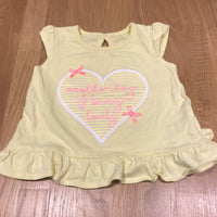 'Another Day Of Being Lovely' Yellow T-Shirt - Girls 0-3m