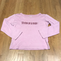 Victime De La Mode!' Lilac Long Sleeve Top - Girls 4-5
