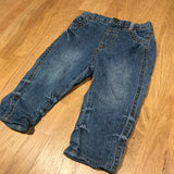 Mid Blue Lined Denim Jeans - Boys 6-9m
