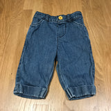 Mid Blue Denim Jeans with Turnups - Girls 0-3m