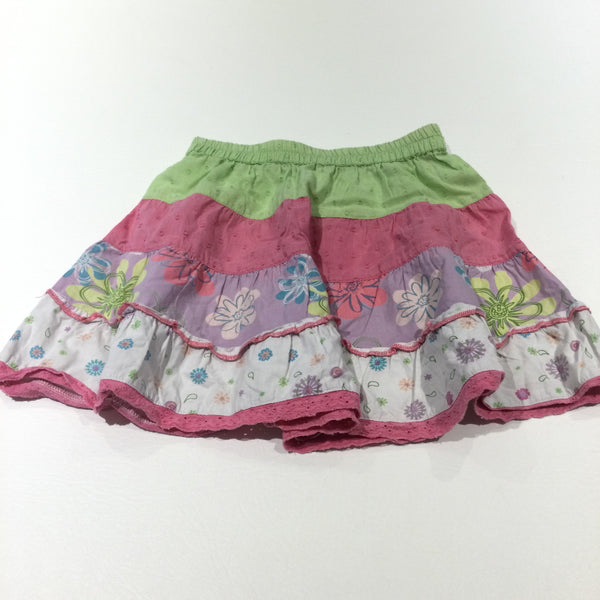 Patchwork Colourful Cotton Skirt - Girls 18-24 Months