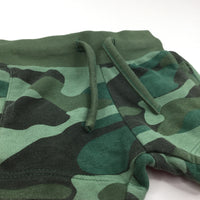 Green Camouflage Thick Jersey Shorts - Boys/Girls 6-9m