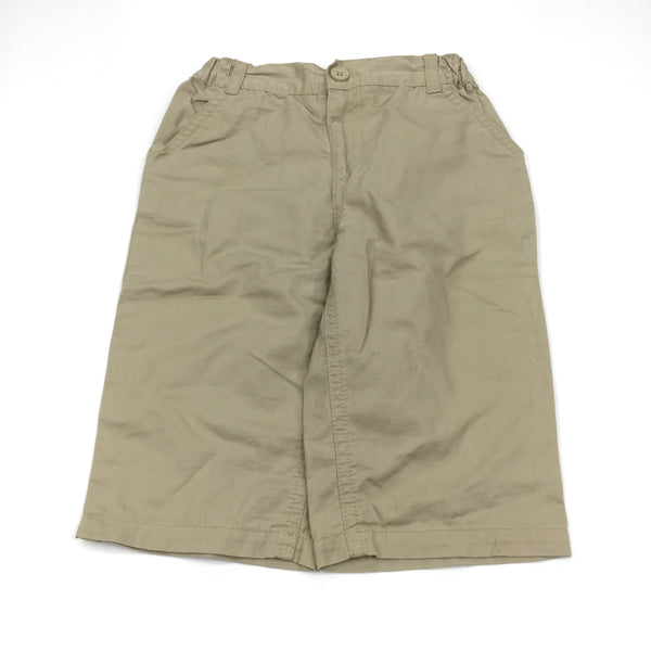 Beige Cotton Trousers - Boys 6-9m