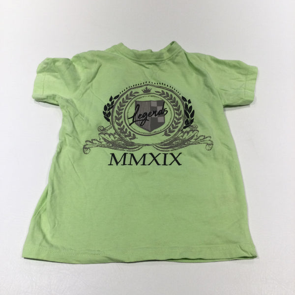 'Legends MMXIX' Yellow T-Shirt - Boys 6-7 Years