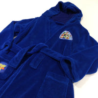 'Toy Story 4' Badge Blue Fluffy Fleece Dressing Gown with Hood & Attached Belt  - Boys 6-7 Years