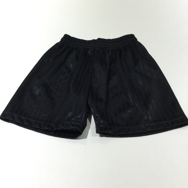 Black Football Shorts - Boys 3-4 Years