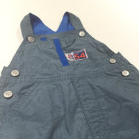 Blue Cotton Dungarees - Boys 9-12 Months