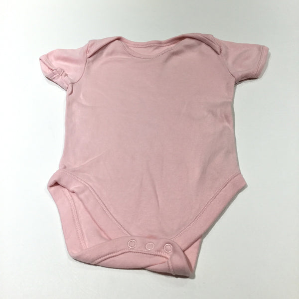 Pink Short Sleeve Bodysuit - Girls 12-18 Months